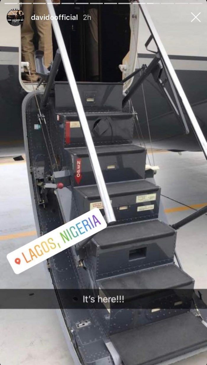 OBO Boss Davido, Gets Delivery Of His Private Jet In Lagos (Photos) 3-34-710