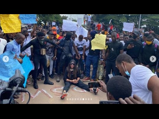 Actress, Angela Okorie Leads #endpolicebrutality Protest In Ebonyi (Photos) 3310