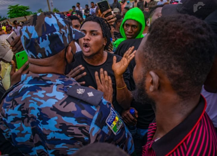 Pictures From The EndSARS Protest In Egbeda, Lagos 4-728x11