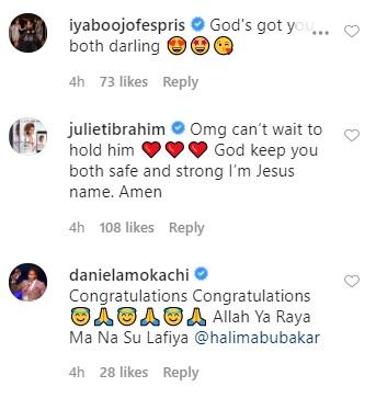 Celebrities React To Halima Abubakar's Revelation That Her Baby Was Born Prematurely 410