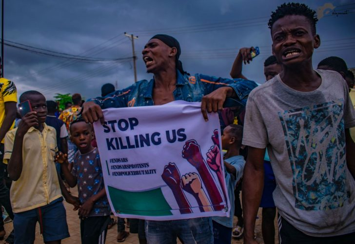 Pictures From The EndSARS Protest In Egbeda, Lagos 5-728x10