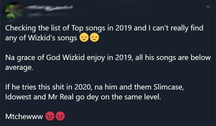 If Wizkid Continues Like This – He Would Be On The Same Level Of Slimcase In 2020 98764310