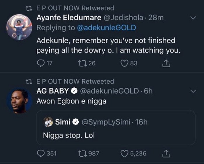 Simi's Mum Calls Out Adekunle Gold On His Failure To Pay Up Simi's Bride Price (See Details) Ag-110