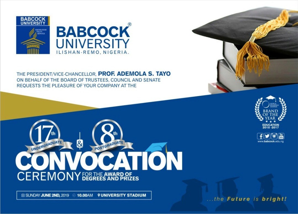 Babcock University 2019 Convocation Ceremony Date for Undergraduate & Postgraduate Babcoc11