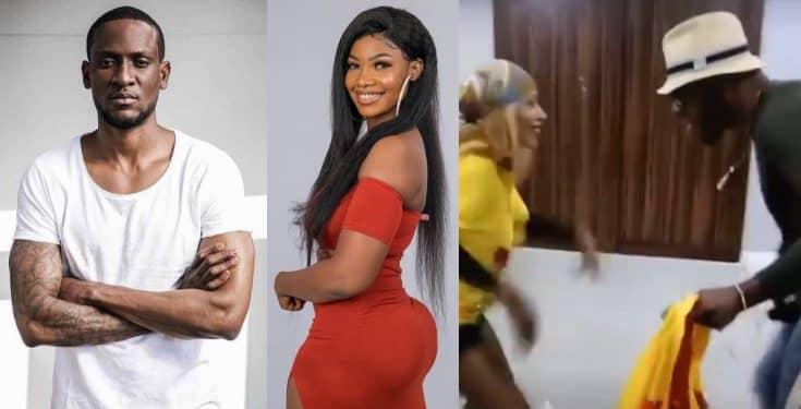 BBNaija: Frodd and Mercy seen dancing happily during a fight between Tacha and Omoshola (video) Bbnaij68