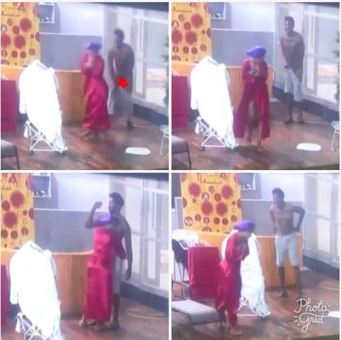 BBNaija 2019: Mercy pulls down Ike's shorts, exposes his private part (Watch Video) Bbnaij71