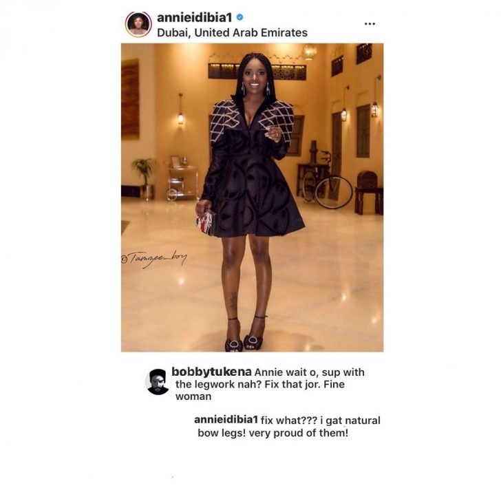 """I'm Proud Of My Natural Bow Legs"" – Annie Idibia Shut Down A Body-shamer Bow-le10"
