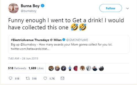 Burna Boy Reveals Where He Was When His Mum Went To Collect His Award Burna-15