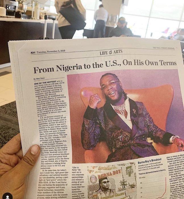 "Burna Boy Crowned The ""Graceful King Of Afrobeats"" By UK Newspaper Burna-48"