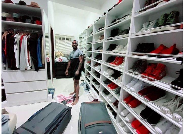 Nigerian Singer, Peter Okoye Flaunts Shoe Closet (Photo) Captur73