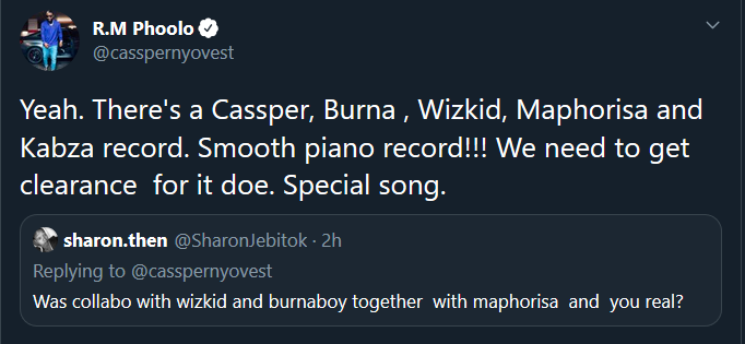 I Need A Clearance From Wizkid And Burna Boy To Drop Our Record – Cassper Nyovest Casp10