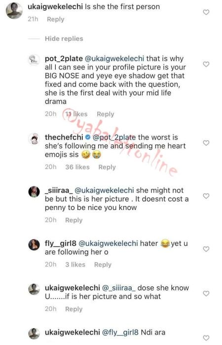 Chioma Reacts After Lady Said She's Not The First To Bear A Child For Davido Chef-c10