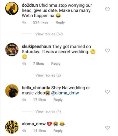 Nigerians Congratulate Flavour And Chidinma Over Their Rumored Marriage Comm10