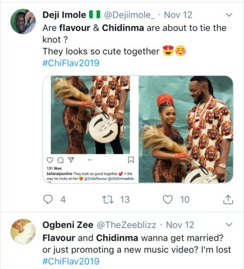 Nigerians Congratulate Flavour And Chidinma Over Their Rumored Marriage Commmm10