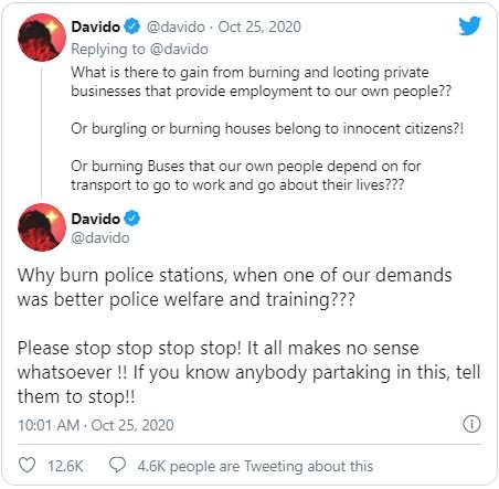 It's Painful That Peaceful Protest Turned Into Complete Anarchy – Davido Laments Da210