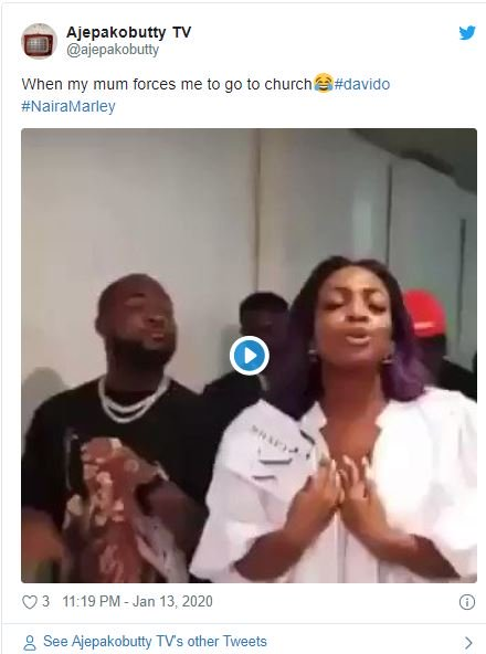 Fans Reacts As Davido's Sister Drags Him To Church (Funny Reactions) Dave-210