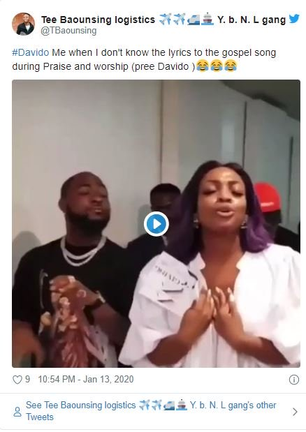 Fans Reacts As Davido's Sister Drags Him To Church (Funny Reactions) Dave-410