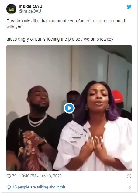 Fans Reacts As Davido's Sister Drags Him To Church (Funny Reactions) Dave-510