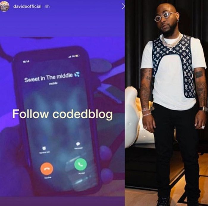 See What Davido Saved Chioma's Name As On His Phone Davech10