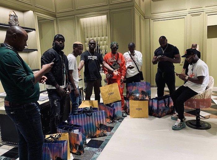 Nigerians Reacts As Davido Takes His DMW Crew Shopping In Dubai David180