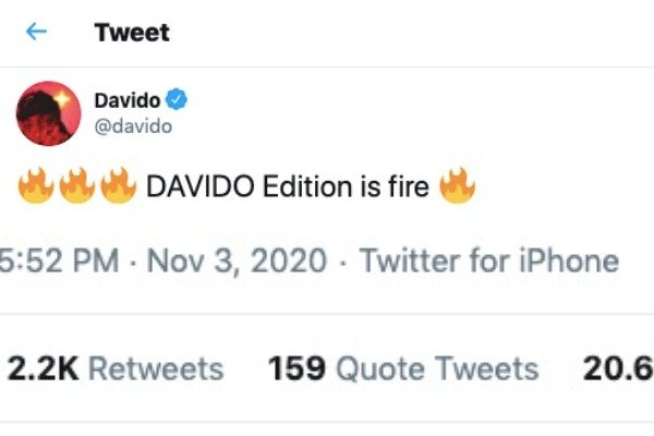Davido - Angry Nigerians Drag Davido For Tweeting About His New Infinix Edition Phone With An iPhone David412