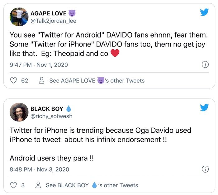 Davido - Angry Nigerians Drag Davido For Tweeting About His New Infinix Edition Phone With An iPhone David413