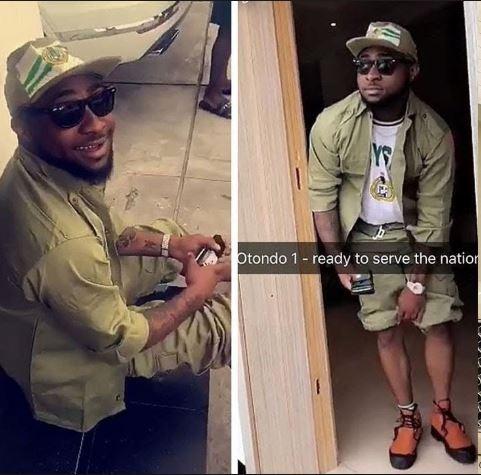 Davido Spotted In The Same NYSC Camp With Broda Shaggi (Watch Video) Davido27