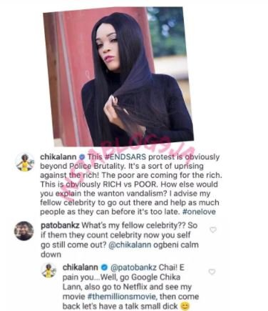 'End SARS Protest Is Beyond Police Brutality, It Is Battle Between The Rich And Poor' – Filmmaker Chika Lann Dfbfnf12