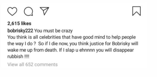 Bobrisky Reveals Why He Did Not Join #EndSARS Protest Dfbgf10
