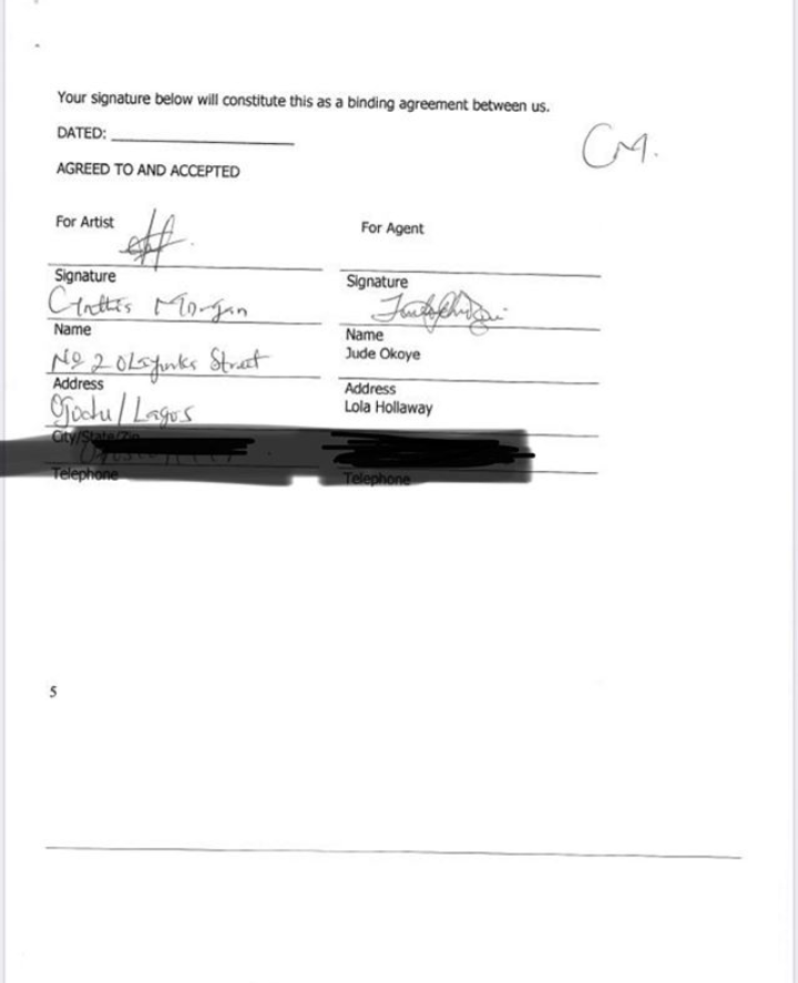 Did Cynthia Morgan Lie Against Her Record Label? (See Contract) Did-cy10