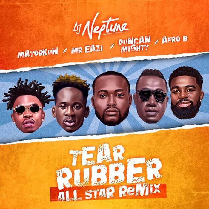 [Download Music] DJ Neptune Ft. Mayorkun, Mr Eazi, Duncan Mighty & Afro B – Tear Rubber (Remix) Dj-nep13