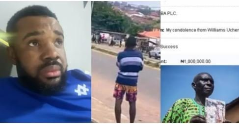 Williams Uchemba Gives N1 Million To Father Of Late Jimoh Isiaka Shot Dead During #EndSARS Protest Dnjd10
