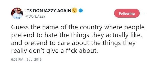 Don Jazzy Takes Shot At Nigerians With A Single Tweet? (Nigerians Are Reacting) Don10