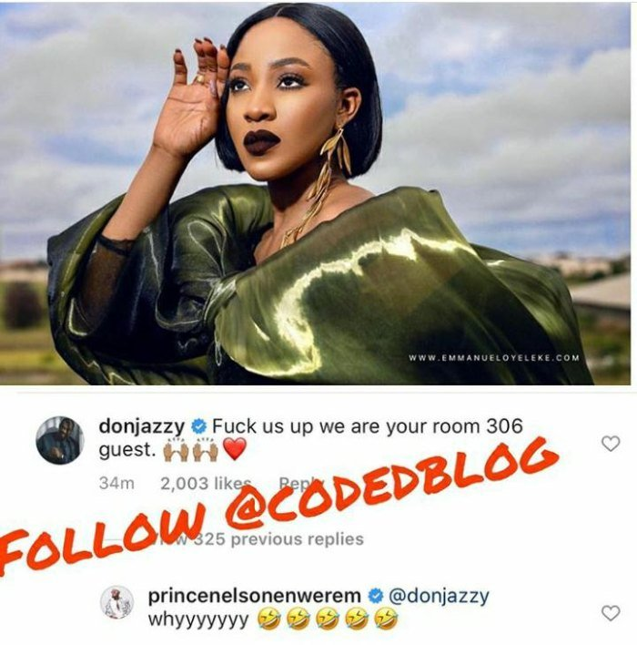 """""""Fvck Us Up We Are Your Room 306 Guest"""" – Don Jazzy Reacts To Saucy Photo Of Erica Donjaz41"""