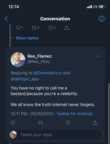Dremo Threatens Twitter User Who Accused Him Of Domestic Violence (See Full Gist) Dre-310