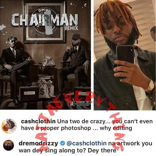Dremo Replies Fan Who Blasted Him And Zlatan Over An Artwork Of A Track Drem10