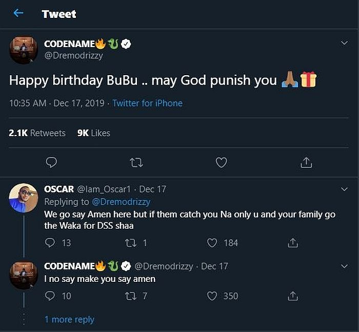 """""""May God Punish You"""" – Rapper Dremo Reacts To President's Buhari's Birthday Dremo-24"""