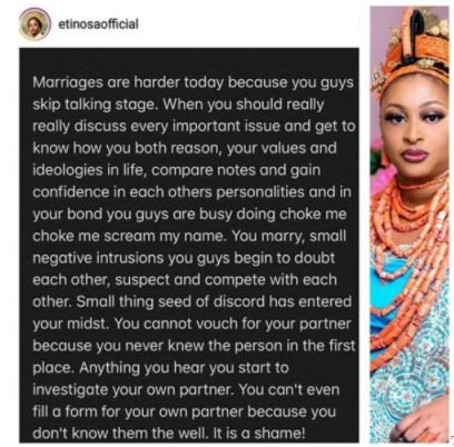 Marriages Are Harder Today Because People Skip The Talking Stage- Actress/Comedienne, Etinosa Etinos32