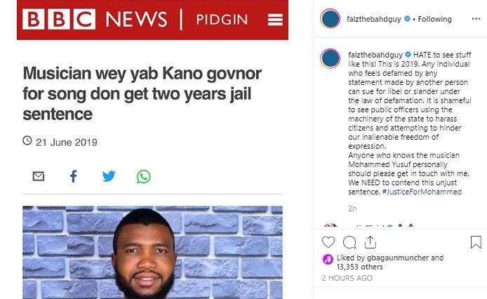 Falz Condemns Kano State Government For Sending Musician To Jail Falz-211