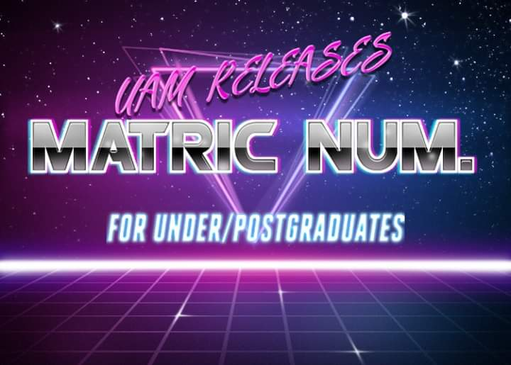 Federal University of Agriculture Makurdi (FUAM) Releases Matric Numbers For Undergraduate/Post Graduate Students For 2017/2018 academic session   Fb_img16