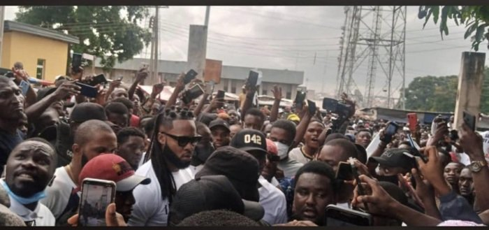 End SARS: Flavour, Phyno Join Protest In Enugu Flavou15