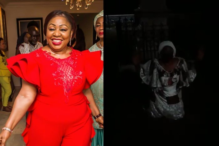 Senator Florence Ita-Giwa Kneels And Pleads With Rioting Youth In Calabar (VIDEO) Floren10