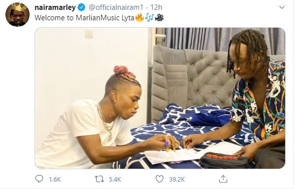Jubilation As Popular Singer, Naira Marley Officially Signs Lyta To His Record Label Fvlmfl10