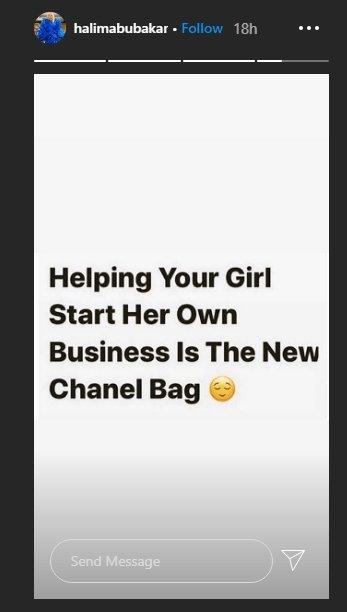 Halima Abubakar Advises Guys To Start Businesses For Their Girlfriends Halima20