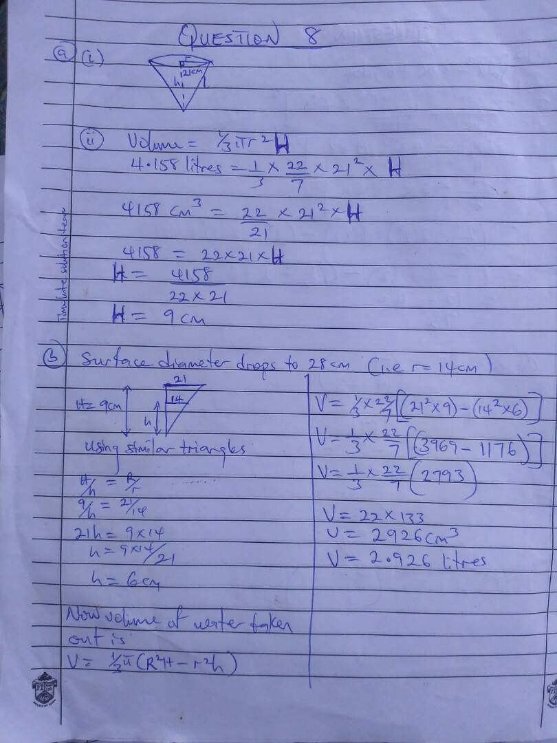 2018 Waec Gce Mathematics Objective and Theory Questions and Answers   Waec Exam Expo  Img-2076