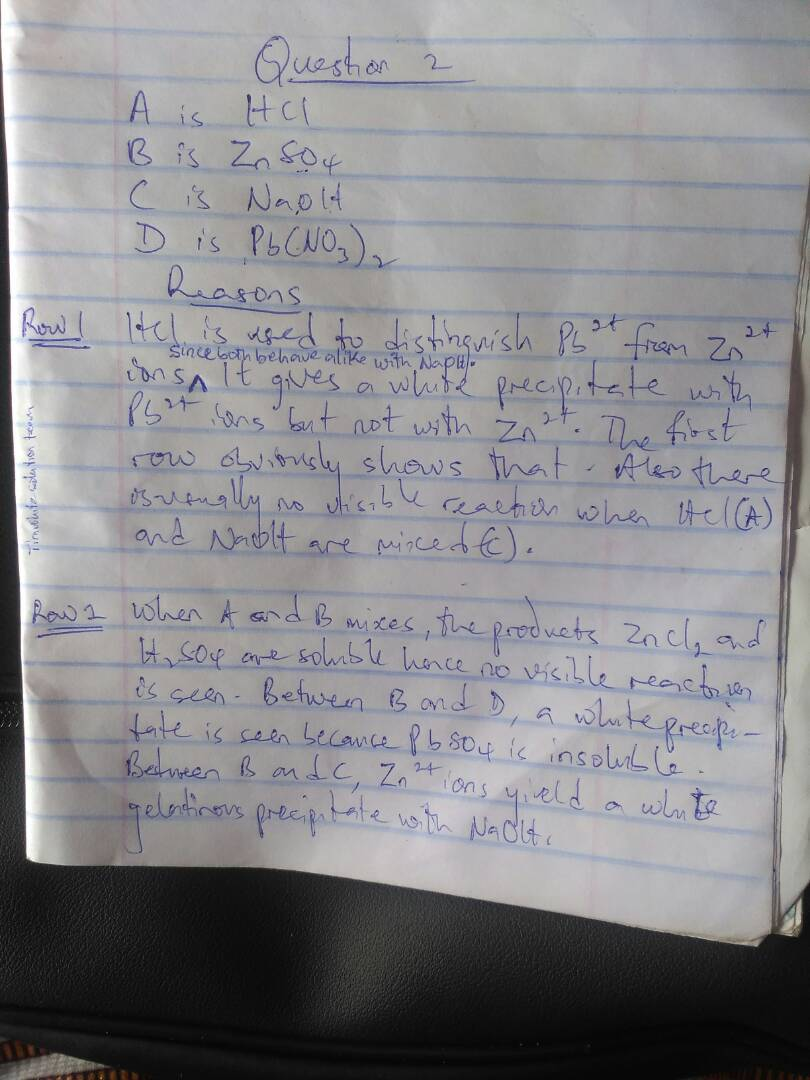 2018 Waec Gce Chemistry Practical Questions and Answers   Waec Gce Exam Runs  Img-2089