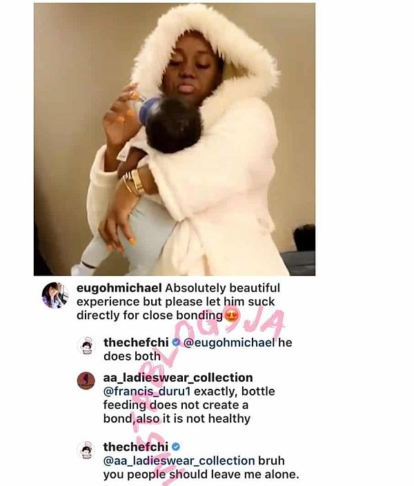 """""""Leave Me Alone"""" – Chioma Replies Follower Who Asked Her To Stop Bottle Feediang Her Son Img_2075"""