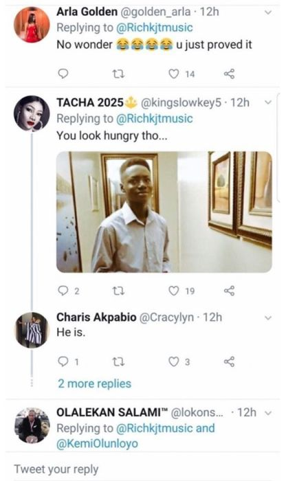 """You Look Hungry""- Titans Blast Kemi Olunloyo's Son On Twitter Img_2077"