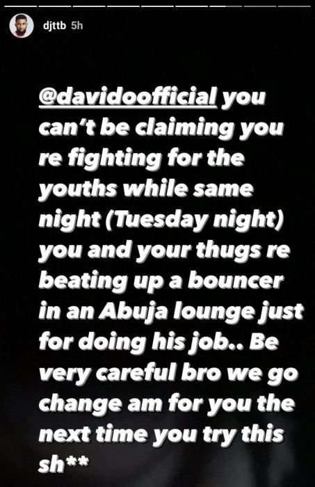 Davido Called Out For Allegedly Beating Up Bouncer Till He Started Bleeding Img_2230