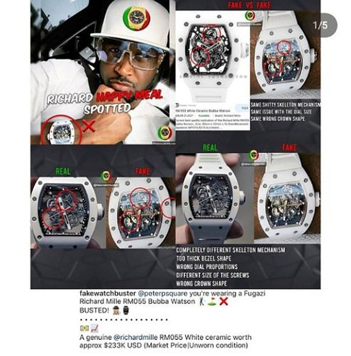 Peter Okoye Called Out For Wearing Fake Richard Mille Wrist Watch Img_2813